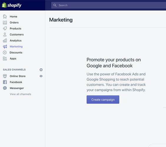 Marketing Shopify